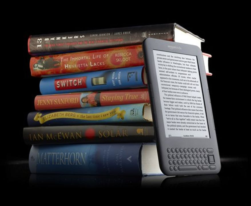 This product image provided by amazon.com Inc. shows the Kindle 3 reader. (AP Photo/amazon.com Inc.)