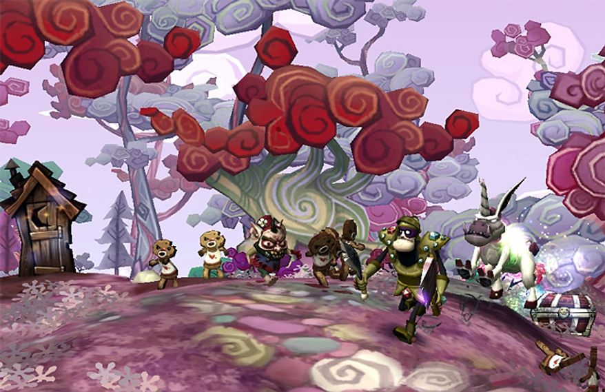 Enter some very colorful worlds in Electronic Arts' DeathSpank, available from PlayStation Network and Xbox Live Arcade.