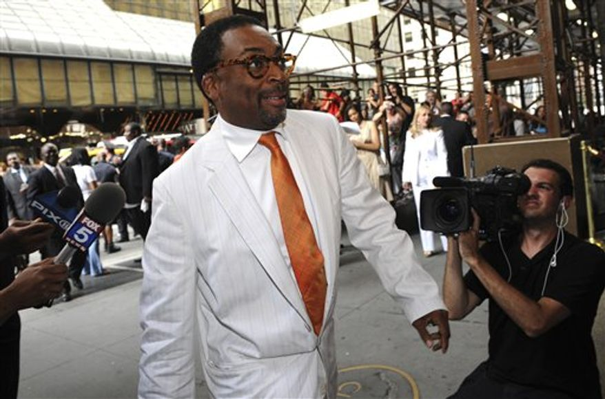 "FILE-This July 10, 2010 file photo shows director Spike Lee entering Cipriani's for the wedding of Carmelo Anthony and LaLa Vasquez, in New York.  Lee has screened his new four-hour documentary on the massive BP oil spill in the Gulf of Mexico and says no one from the oil giant is speaking to him. The director showed ""If God Is Willing and Da Creek Don't Rise"" at the National Association of Black Journalists convention in San Diego on Saturday July 31, 2010. It airs in August on HBO. (AP Photo/ Louis Lanzano,File)"