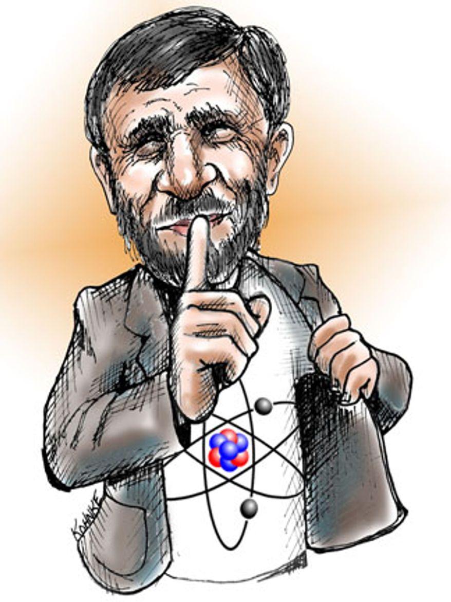 Illustration: Ahmadinejad by Jennifer Kohnke
