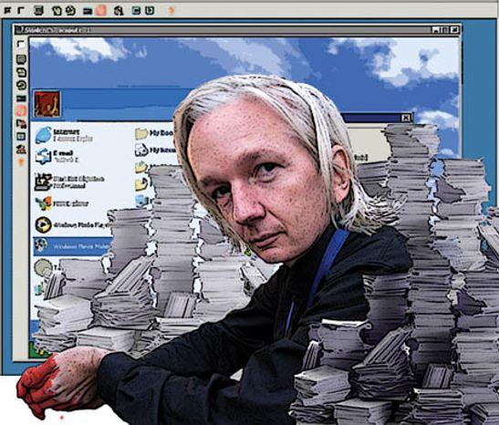 Illustration: Julian Assange