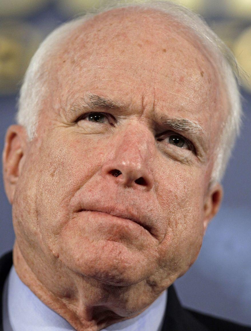**FILE** Sen. John McCain, Arizona Republican (Associated Press)