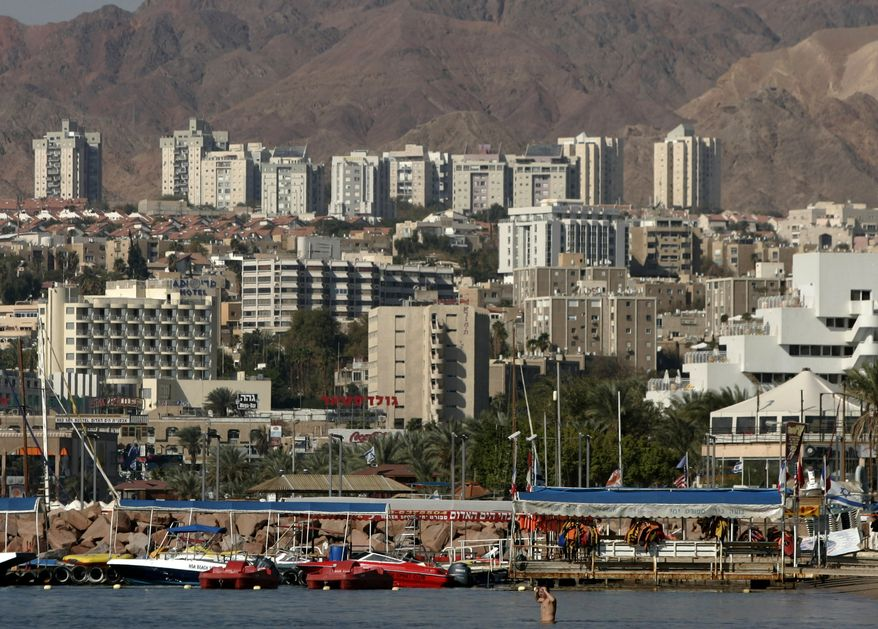 ** FILE ** The Red Sea resort city of Eilat, Israel, is pictured in 2007. On Monday, Aug. 2, 2010, a series of explosions was heard in Eliat, a popular tourist destination, and Israeli police confirmed that the blasts were caused by rockets. (AP Photo/Ariel Schalit, File)