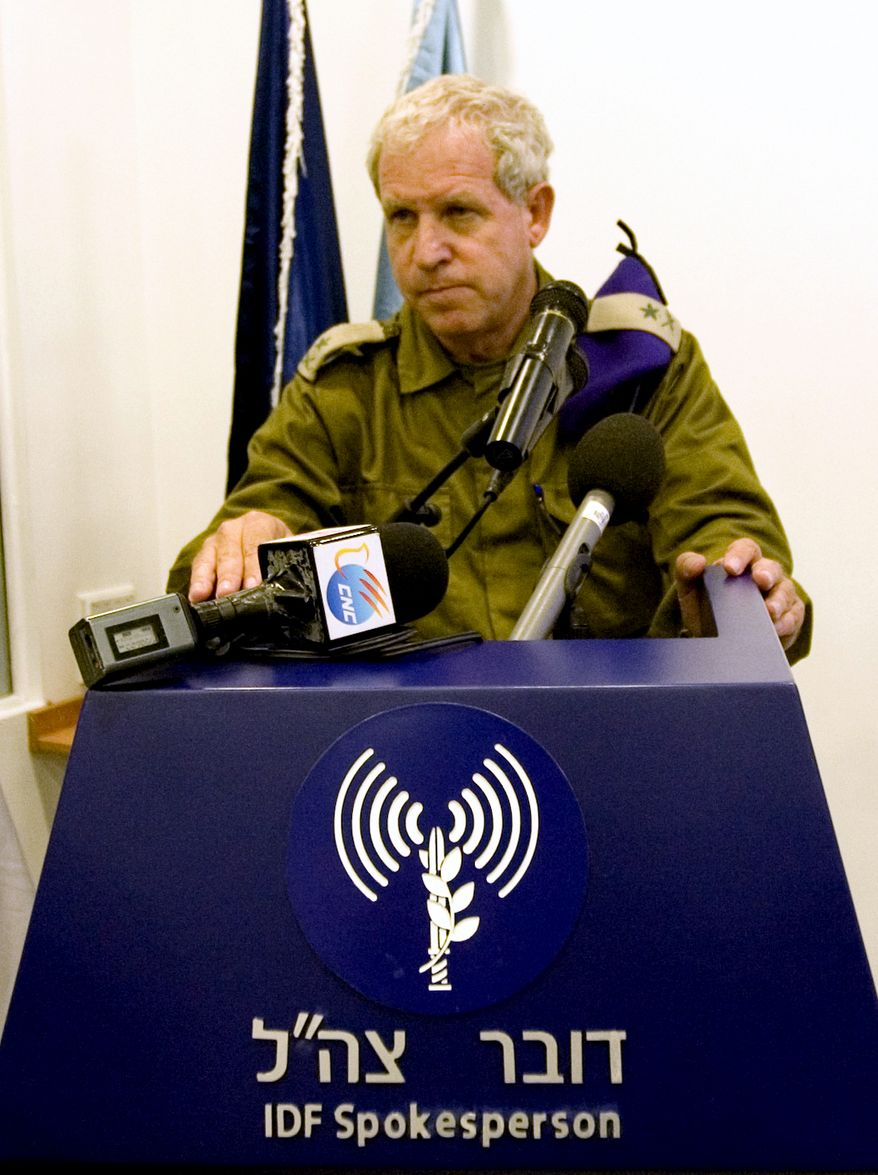 Retired Israeli Gen. Giora Eiland speaks to reporters at Israel's Defense Ministry in Tel Aviv, Israel, Monday, July 12, 2010. Gen. Eiland headed an internal military investigation committee that concluded Monday that flawed intelligence gathering and planning led to the deadly botched raid on a Gaza-bound flotilla on May 31. On Monday, Aug. 2, 2010, the Israeli government announced it will work with a United Nations investigation into the incident. (AP Photo/Ariel Schalit)