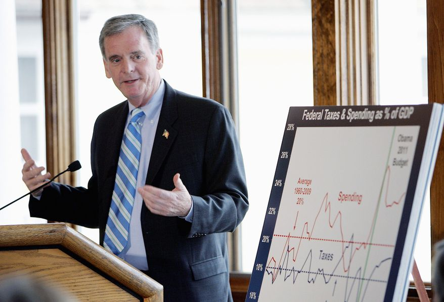 Associated Press photographs OPEN SEAT: Sen. Judd Gregg, New Hampshire Republican, is stepping down.