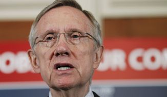 ASSOCIATED PRESS Senate Majority Leader Harry Reid of Nev., speaks during a news conference on Capitol Hill in Washington, Wednesday, Aug. 4, 2010, to discuss the jobs bill.