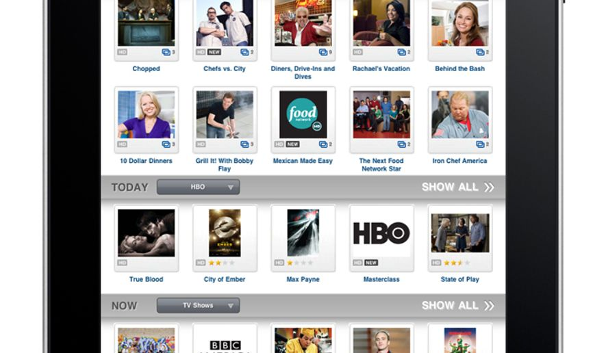 This product image provided by DISH Network L.L.C, shows an Apple iPad using the Remote Access app. (AP Photo/DISH Network L.L.C.