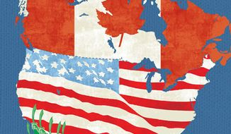 Illustration: Border by Linas Garsys for The Washington Times