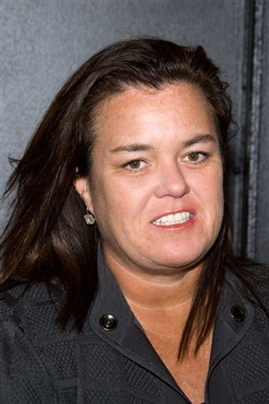 """FILE - In this April 20, 2010 photo, Rosie O'Donnell arrives at the opening night performance of the Broadway musical 'American Idiot' in New York,   Rosie O'Donnell is returning to daytime TV with a talk show on Oprah Winfrey's new network.  Winfrey announced the show Thursday, Aug. 5, 2010, calling O'Donnell a true original who brings passion to everything she does.   O'Donnell hosted a syndicated series, """"The Rosie O'Donnell Show"""" from 1996 to 2002 and won six Emmy Awards for it.  (AP Photo/Charles Sykes)"""