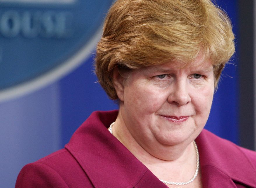 In this Feb. 11, 2010, file photo, Council of Economic Advisers Chairwoman Christina Romer briefs reporters at the White House in Washington. The White House said on Thursday, Aug. 5, 2010, that Mrs. Romer is resigning her position to return to academia. Her resignation will take effect Sept. 3. (AP Photo/Charles Dharapak, File)