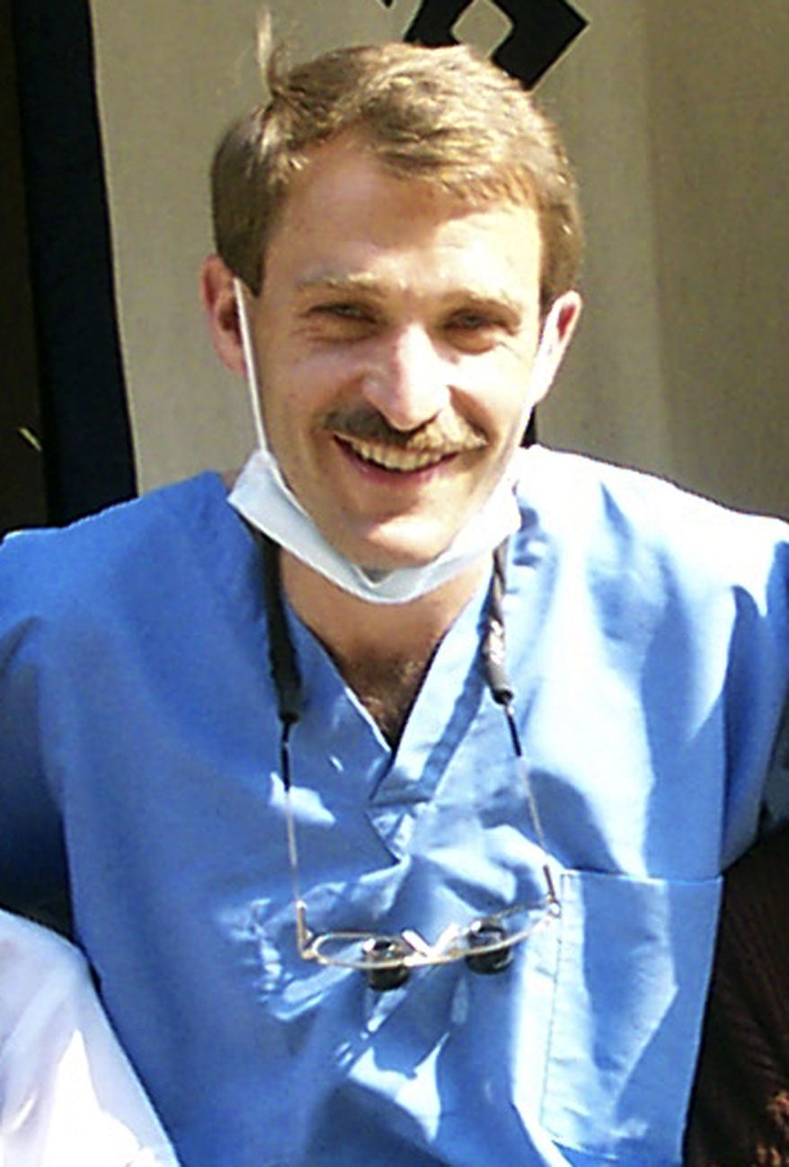Thomas Grams, 51, a dentist who formerly practiced in Durango, Colo., is shown in an undated photo released by Kay Shaw of Global Dental Relief, a Denver-based group that sends teams of dentists around the globe. He was killed in Afghanistan on Thursday, Aug. 5, 2010, along with five other Americans, two Afghans, one German and a Briton, Ms. Shaw said. (AP Photo/Global Dental Relief)