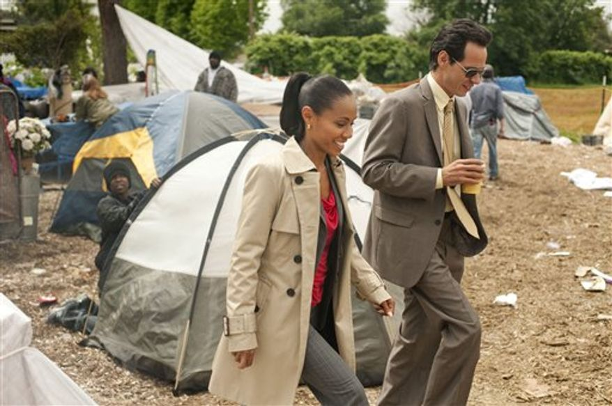"""In this publicity image released by TNT, actor-singer Marc Anthony is shown in a scene from the TNT original series, """"Hawthorne."""" (AP Photo/TNT, Darren Michaels)"""