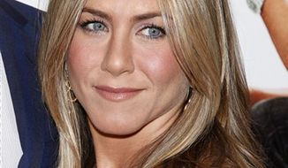 "FILE - In this March 16, 2010 file photo, Jennifer Aniston arrives to the premiere of ""The Bounty Hunter"" at The Ziegfeld Theater in New York. (AP Photo/Peter Kramer, file)"