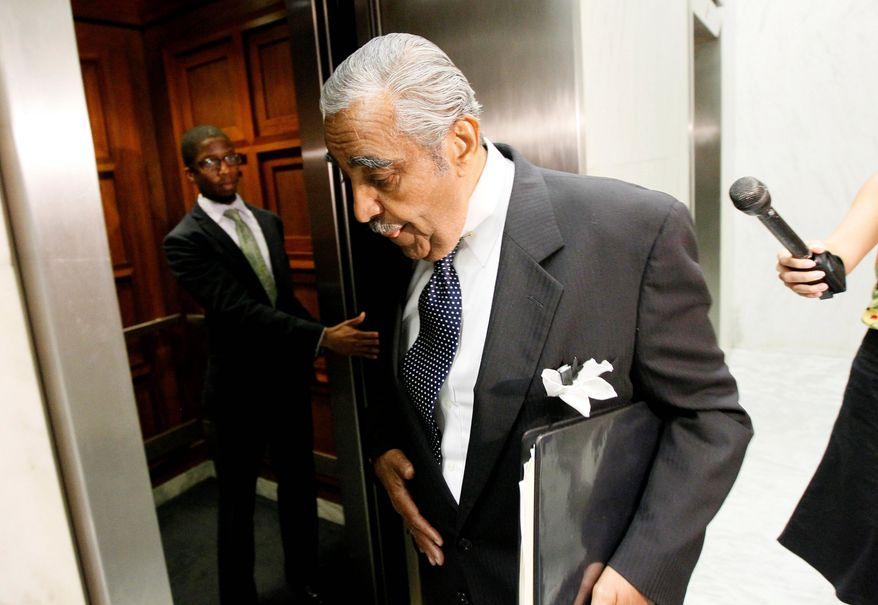 credit one line one line one line one line one line one line one line one line one line one line one line one line one line one.   Rep. Charles Rangel, D-N.Y., gets in the elevator on Capitol Hill in Washington, Tuesday, Aug. 10, 2010. (AP Photo/Alex Brandon)