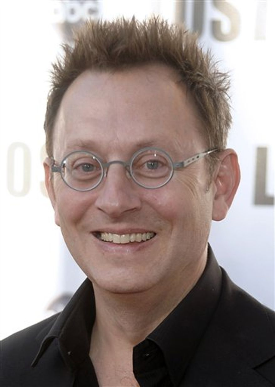 """FILE - In this May 13, 2010 file photo, actor Michael Emerson arrives at the """"Lost Live: The Final Celebration"""" in Los Angeles. (AP Photo/Dan Steinberg, file)"""