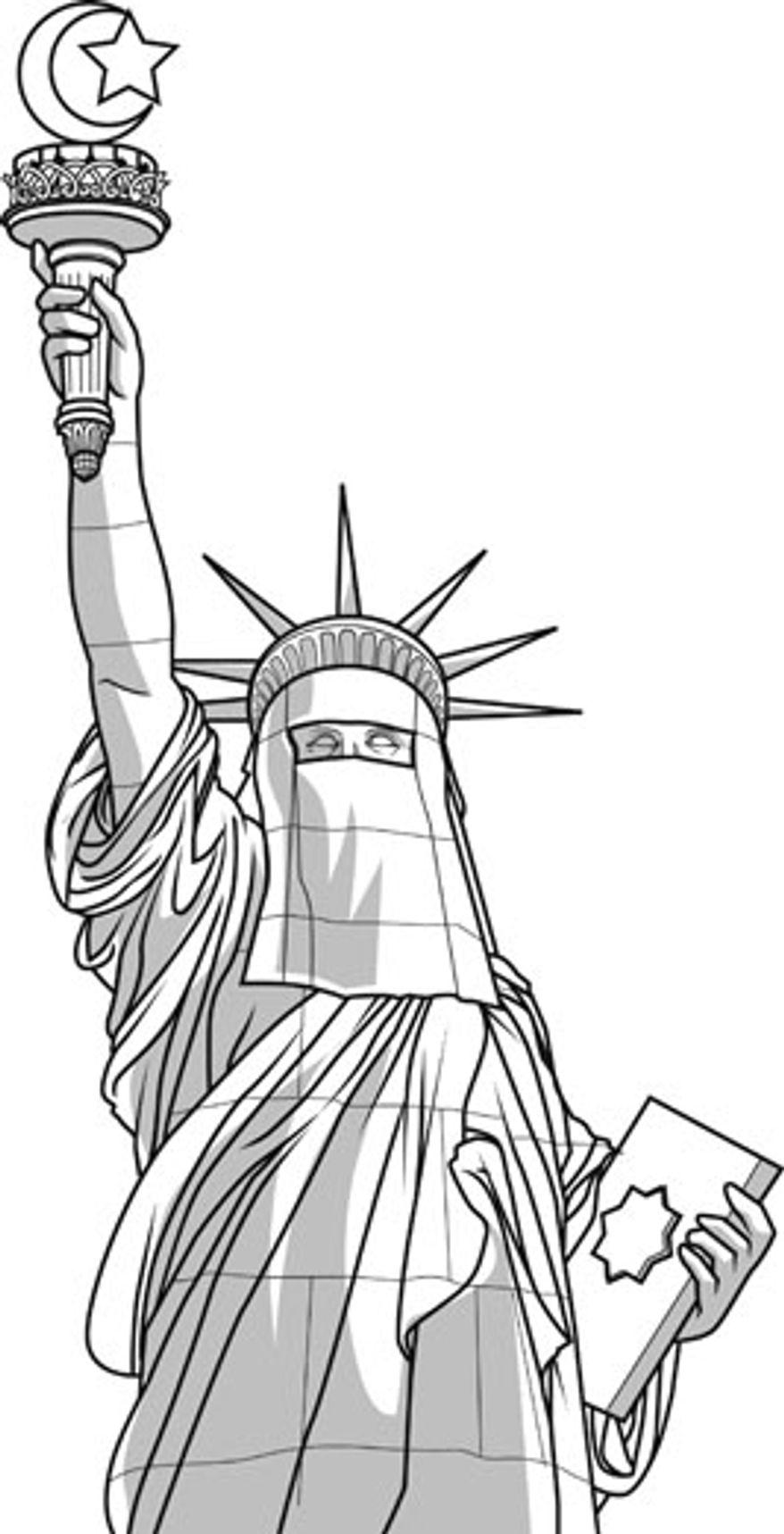 Illustration: Shariah by Linas Garsys for The Washington Times