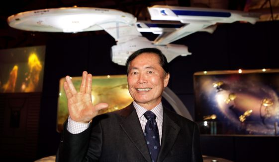 "George Takei says he has accepted his permanent tag as ""Trek's"" Sulu. (Associated Press) ** FILE **"
