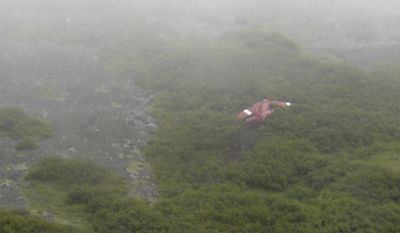 This image provided by the Alaska State Troopers shows the wreckage of the amphibious plane carrying former Sen. Ted Stevens and former NASA chief Sean O'Keefe that crashed into a remote Alaska mountainside during a fishing trip, killing Mr. Stevens and four others and stranding the survivors on a rocky, brush-covered slope overnight. The plane hit the ground with so much force that it left a 300-foot gash on the slope, federal investigators said. (AP Photo/Alaska State Troopers)