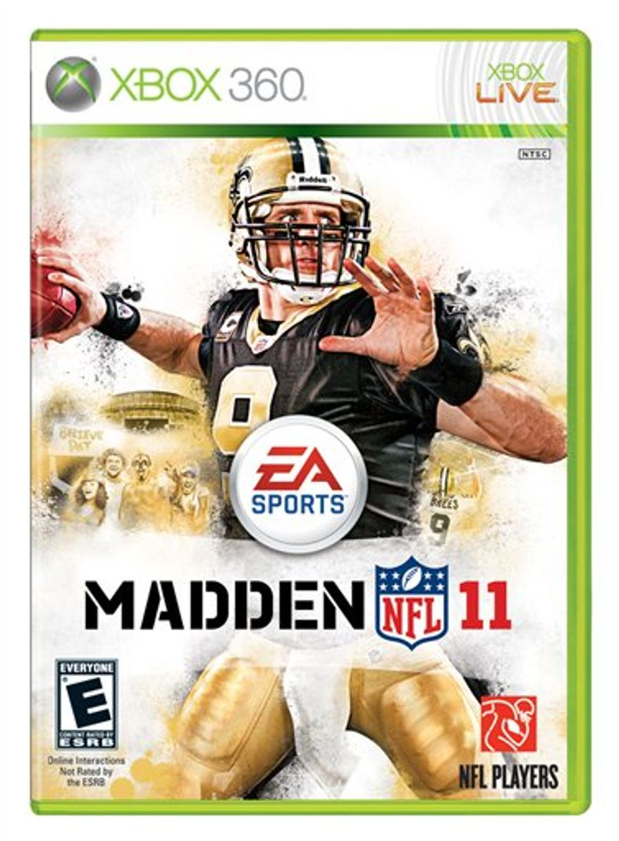"""In this publicity image released by EA Sports, the cover of the video game """"Madden NFL 11,"""" is shown. (AP Photo/EA Sports)"""
