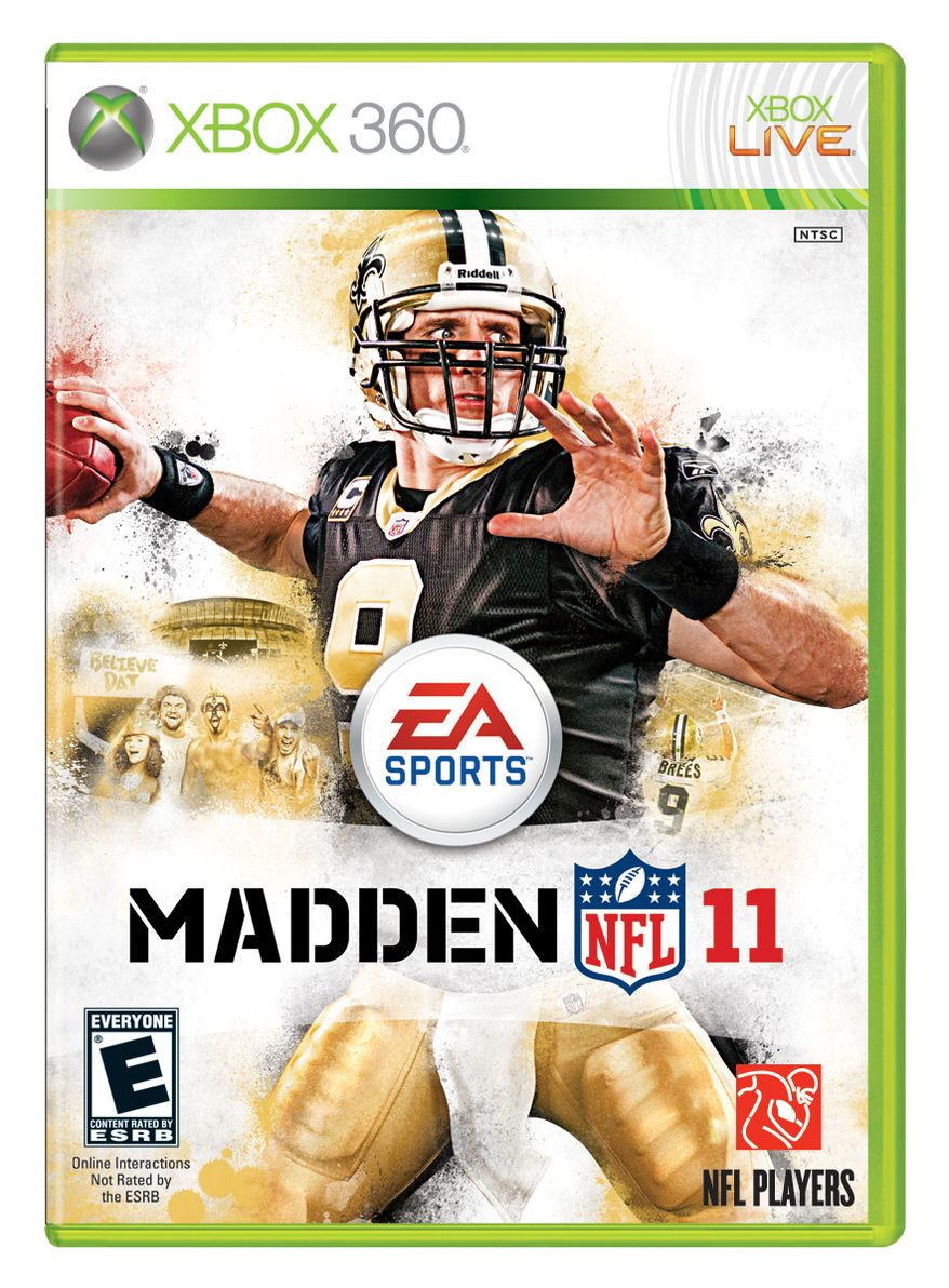 """ASSOCIATED PRESS In this publicity image released by EA Sports, the cover of the video game """"Madden NFL 11,"""" is shown."""