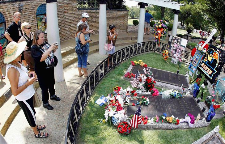 Presley's grave in Meditation Garden at Graceland continues to draw fans more than 30 years after his death. Interest in Presley remains unabated, including on his million-strong Facebook fan page.