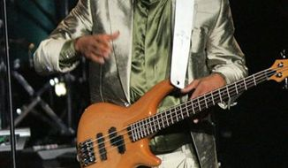 FILE - In this Aug. 26, 2005, file photo, Robert Wilson of The GAP Band, is shownat the 2005 BMI Urban Music Awards,  in Miami Beach, Fla. Wilson, the bassist for the funk and R&B group the Gap Band, has died. He was 53. His death was confirmed by Karen Lee, publicist for his brother and Gap Band singer Charlie Wilson. (AP Photo/Luis M. Alvarez, file)