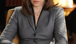 "FILE - In this publicity image released by CBS, Julianna Margulies is shown in a scene from ""The Good Wife.""  (AP Photo/CBS, David M. Russell)"