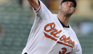 ASSOCIATED PRESS Baltimore Orioles pitcher Kevin Millwood delivers against the Seattle Mariners in the first inning of a baseball game Tuesday, Aug. 17, 2010 in Baltimore. The Mariners won 4-0.