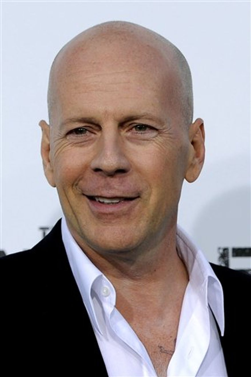"** FILE ** Bruce Willis, at the 2010 premiere of ""The Expendables,"" in Los Angeles. (AP Photo/Chris Pizzello)"
