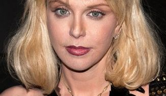"""FILE - In this June 1, 2010 file photo, Courtney Love attends Marina Abramovic's """"The Artist is Present"""" exhibition closing party hosted by Givenchy at the Museum of Modern Art in New York. (AP Photo/Charles Sykes, file)"""