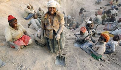 "Marange miners work in conditions that Human Rights Watch calls ""quite appalling,"" despite the Zimbabwean government's pledge to meet international standards. (Associated Press)"