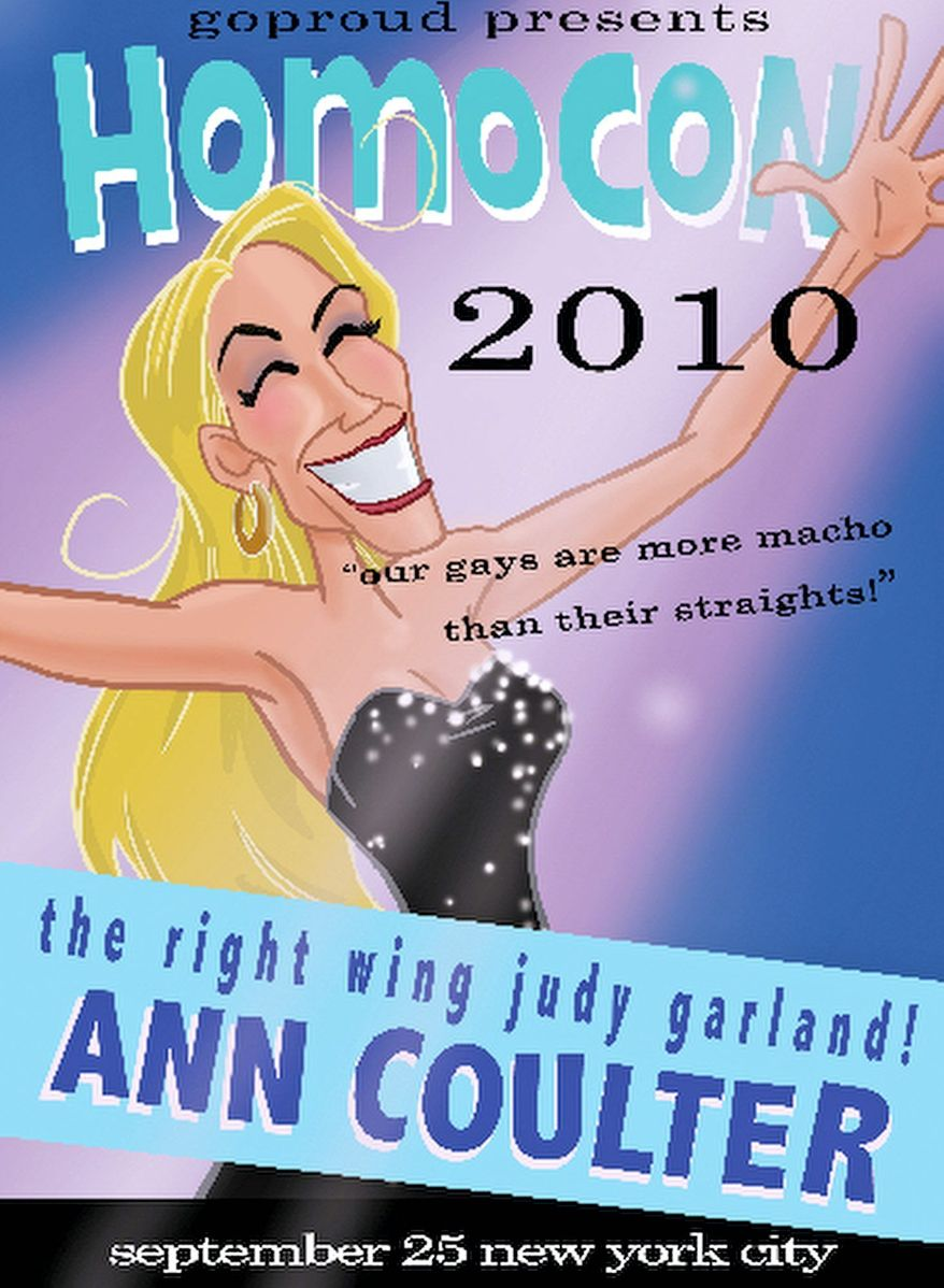"""GOPROUD.ORG Ann Coulter's upcoming appearance at a gay Republican event got her booted from the speaker's lineup at World Net Daily's """"Taking Back America"""" rally in Miami."""