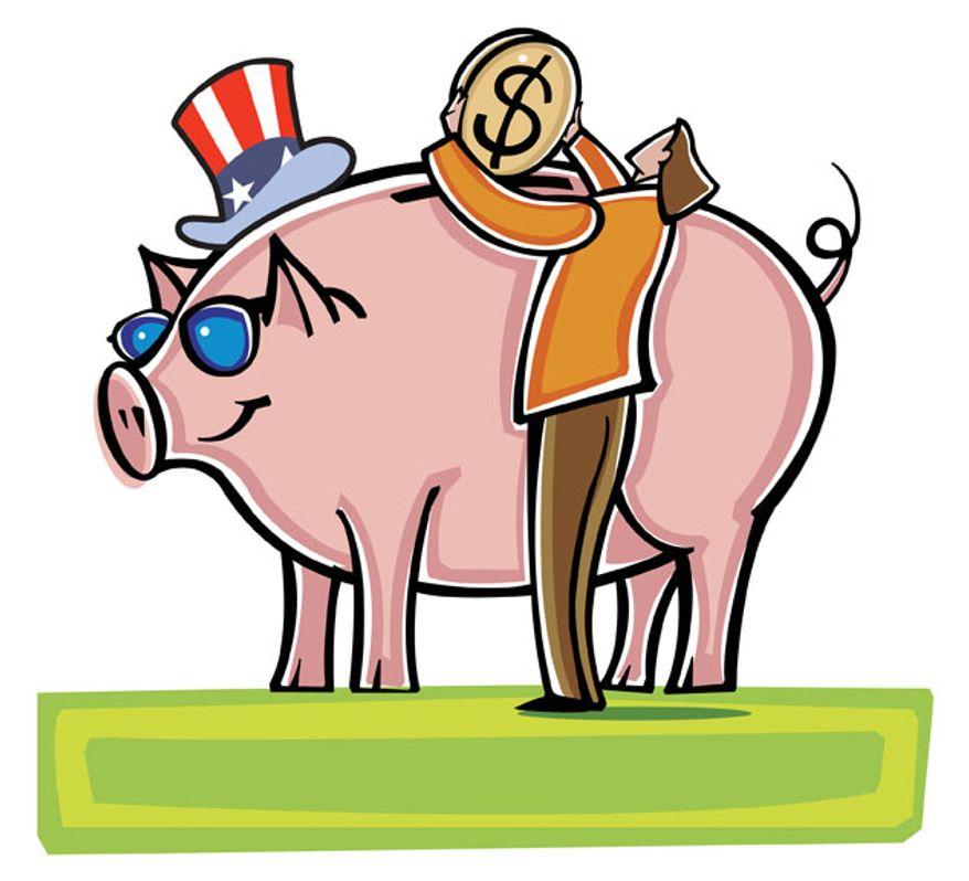 Illustration: Tax piggy bank