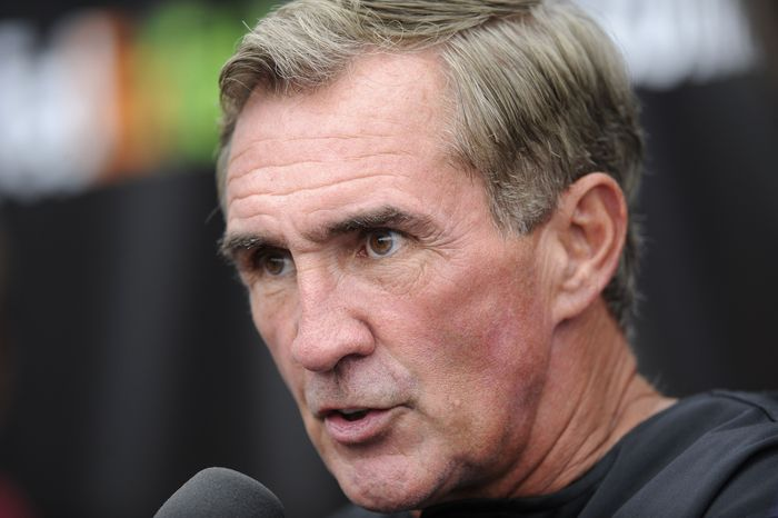 ASSOCIATED PRESS Washington Redskins head coach Mike Shanahan talks to the media after practice at the NFL football team's training camp, Sunday, Aug. 15, 2010, at Redskins Park in Ashburn, Va.