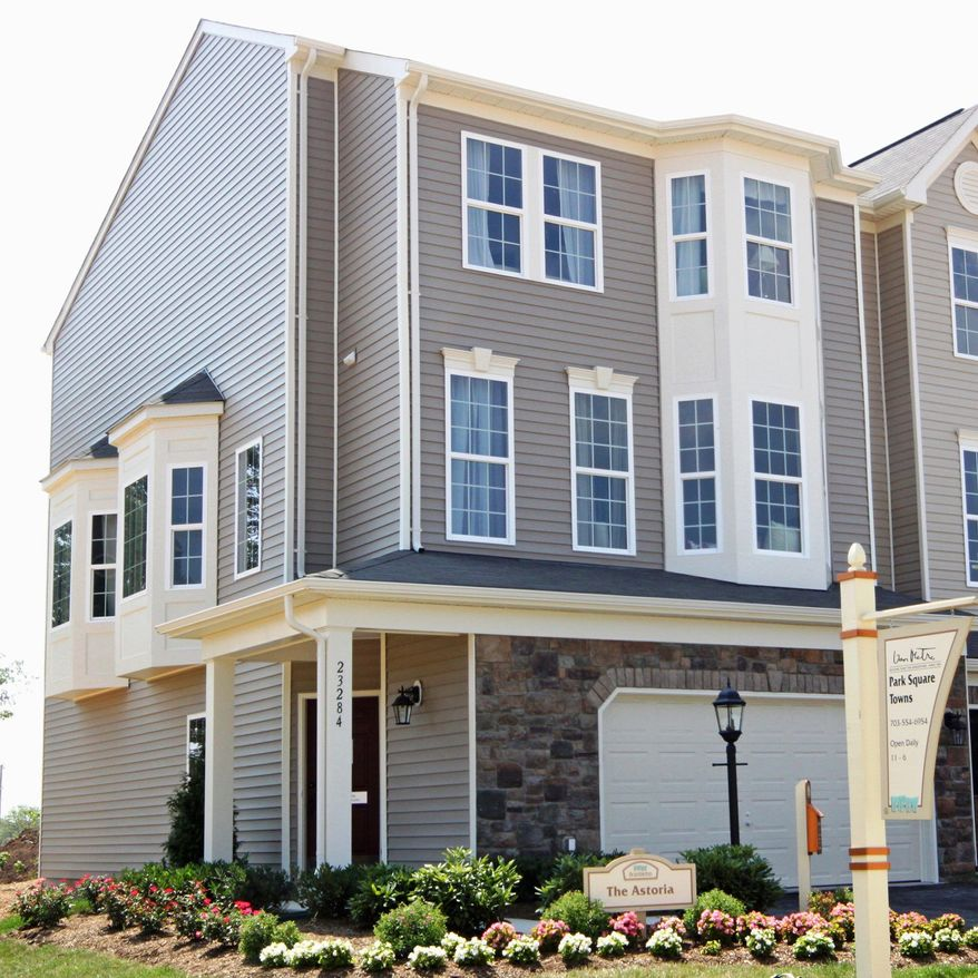 The Astoria model, an end-unit town home at the Park Square Towns at Emerald Ridge in Brambleton, has 2,562 square feet and is priced from $397,490.