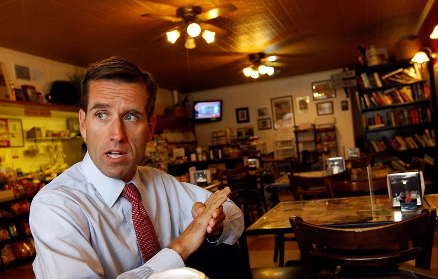 ASSOCIATED PRESS Delaware Attorney General Beau Biden discusses his re-election campaign in Dover, Del., last week. When asked about his long-range plans, specifically about whether he is eyeing the U.S. Senate seat long held by his father, the eldest son of Vice President Joseph R. Biden Jr. remains coy.