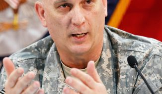 "ASSOCIATED PRESS ""We continue to see development ... in their ability to conduct operations,"" Gen. Raymond T. Odierno said of the Iraqi army."