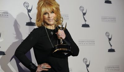 """Ann-Margret won the Emmy for outstanding guest actress in a drama series for her appearance on """"Law & Order: Special Victims Unit."""" (AP Photo/Chris Pizzello)"""