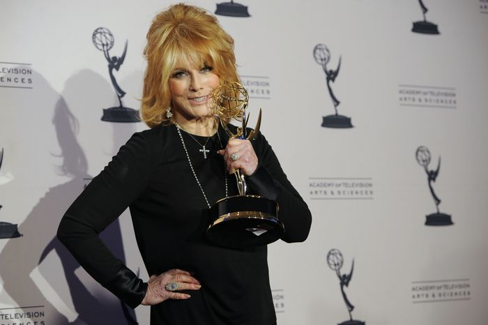 "Ann-Margret won the Emmy for outstanding guest actress in a drama series for her appearance on ""Law & Order: Special Victims Unit."" (AP Photo/Chris Pizzello)"