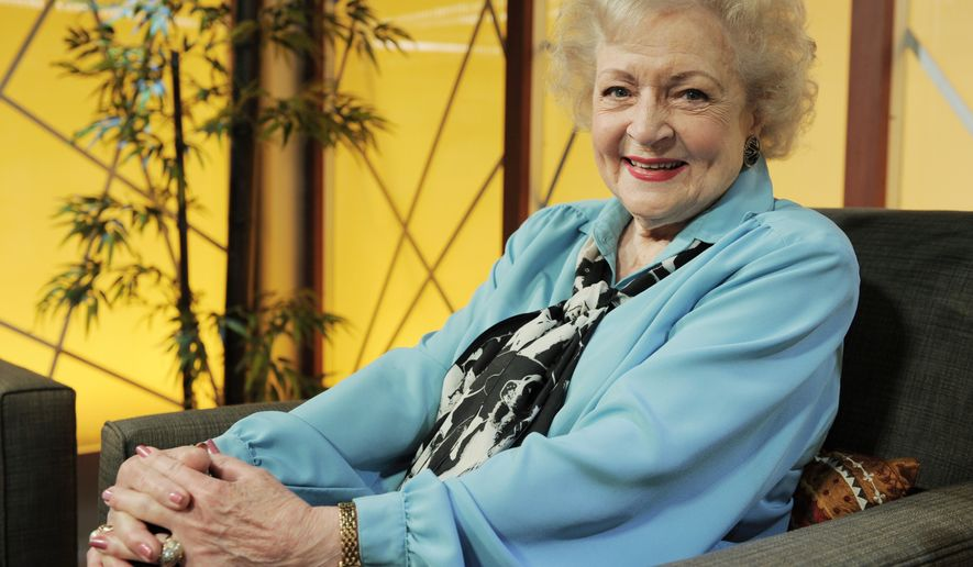 "** FILE ** Actress Betty White, 88, became a five-time Emmy winner Saturday when she received the award for her turn as host of ""Saturday Night Live"" in May."