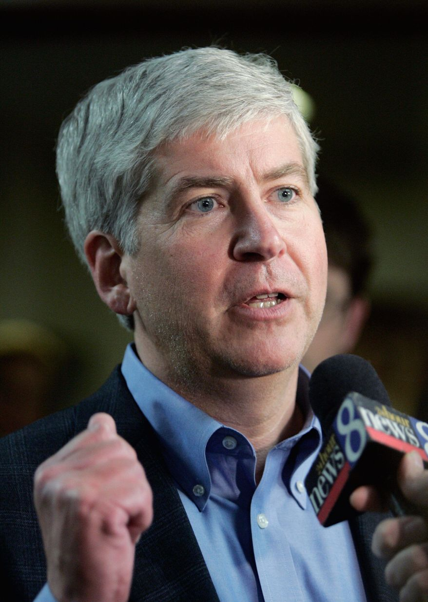 CORPORATE CAMPAIGNING: GOP gubernatorial hopeful Rick Snyder, who has shocked many with his sucess, is among the several businesspeople who have entered the political spectrum this year. (Associated Press)