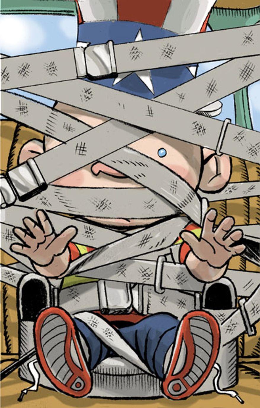 Illustration: Regulations by Alexander Hunter for The Washington Times