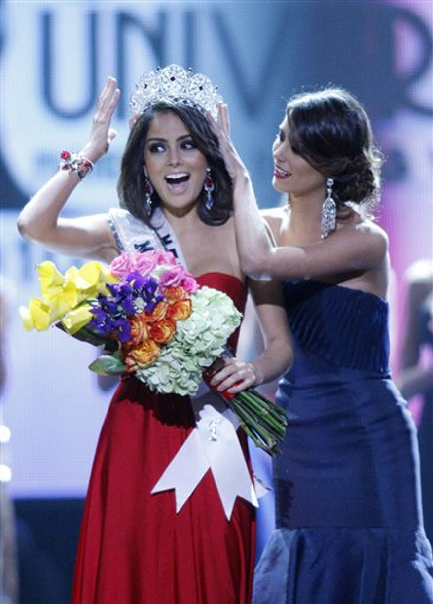 Miss Jamaica Yendi Phillips competes in the evening gown competition during the Miss Universe pageant, Monday, Aug. 23, 2010 in Las Vegas. Phillips was named runner-up.  (AP Photo/Isaac Brekken)