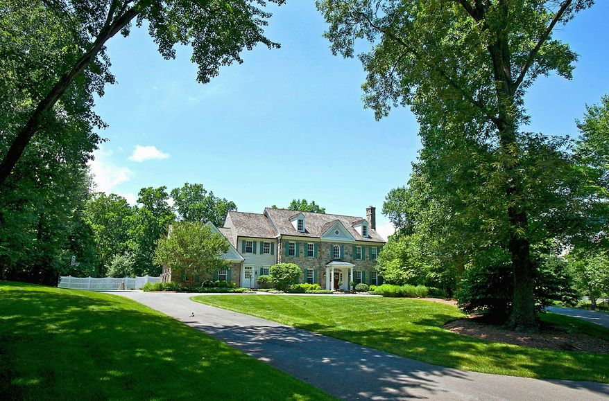 The home at 8521 Country Club Drive in Bethesda is on the market for $3,795,000. Built in 2001, it has seven bedrooms, five full baths and two powder rooms. It sits on more than 2 acres.