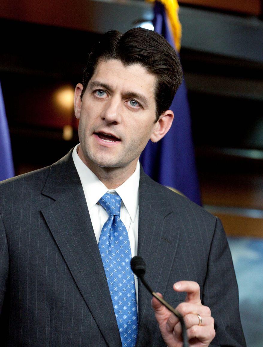 **FILE** Rep. Paul D. Ryan, Wisconsin Republican (Associated Press)