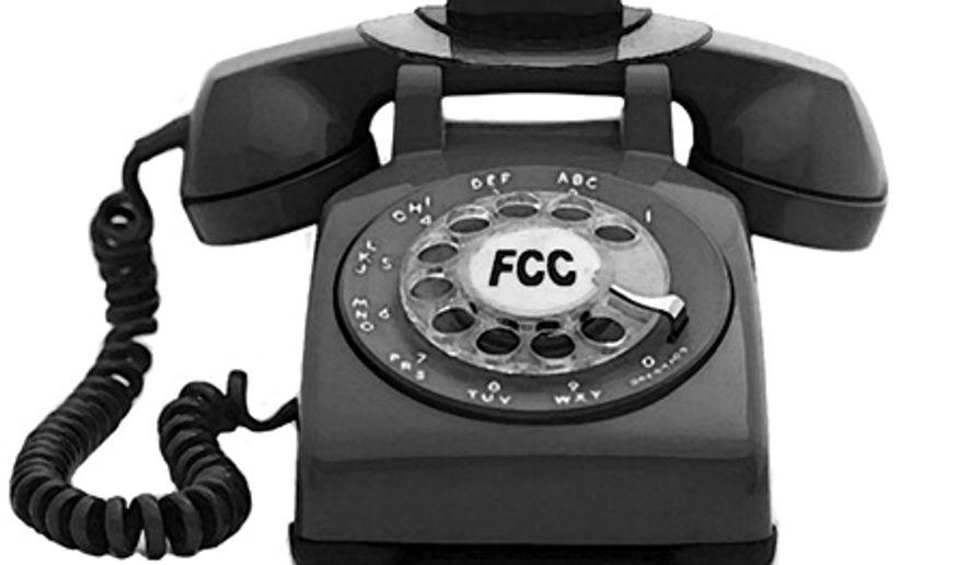 Illustration: FCC's broadband by Alexander Hunter for The Washington Times