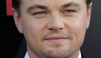 "FILE - In this July 13, 2010 file photo, Leonardo DiCaprio poses at the premiere of the film ""Inception"" in Los Angeles. (AP Photo/Chris Pizzello, file)"