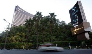 Wynn Las Vegas is pictured Saturday, Aug. 28, 2010 in Las Vegas. Paris Hilton was arrested on the Las Vegas Strip late Friday, Aug. 27, 2010 after police saw a cloud of what they suspected was marijuana smoke wafting from the windows of a black Cadillac Escalade driven by her boyfriend, then found a small amount of cocaine in her possession. (AP Photo/Isaac Brekken)