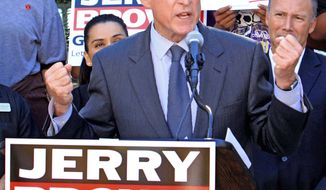 Associated Press photographs California Democratic gubernatorial candidate Jerry Brown has held a number of other electoral offices in the 27 years since leaving the governor's mansion in 1983.