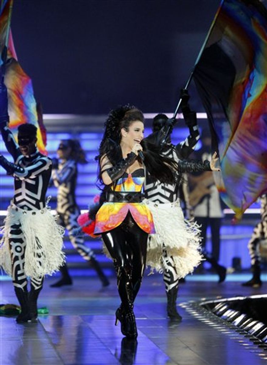Brazilian singer Ivete Sangalo performs at Madison Square Garden Saturday, Sept. 4, 2010 in New York. (AP Photo/Jason DeCrow)